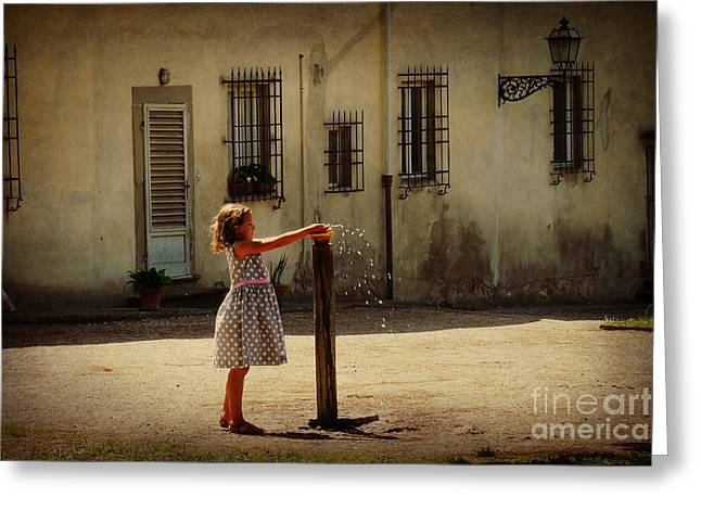 Boboli Bubbler Greeting Card by Valerie Reeves