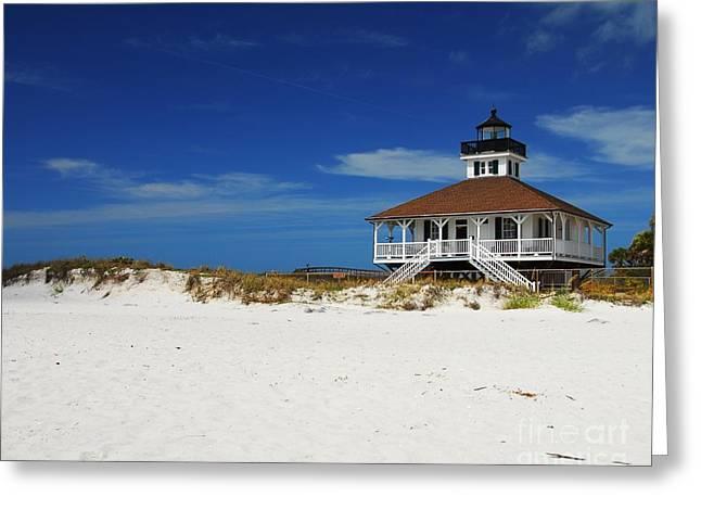 Boca Grande Lighthouse Greeting Card by Mel Steinhauer