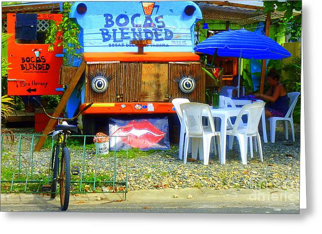 Bocas Blended Greeting Card by Kris Hiemstra