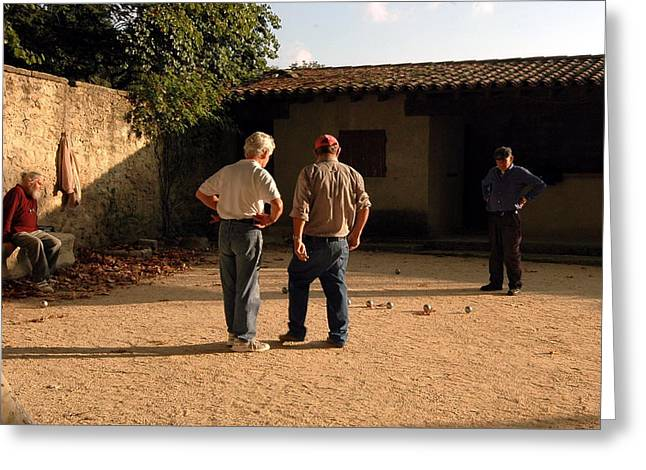 Bocce In Tuscany Greeting Card