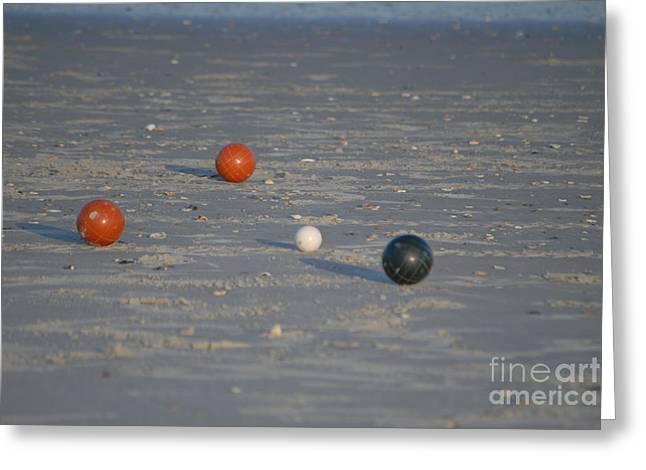 Beach Bocci Ball Greeting Card