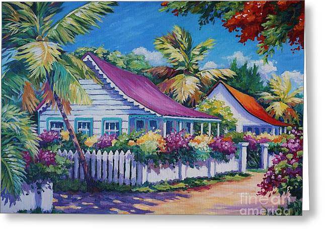 Bodden Town Colours Greeting Card by John Clark