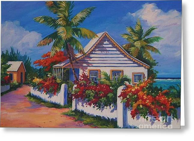 Bodden Town Cottage Greeting Card by John Clark