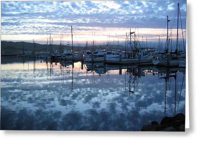 Greeting Card featuring the drawing Bodega Bay Sunrise by Dianne Levy