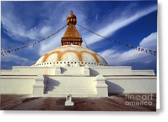 Bodhanath Stupa Greeting Card by Craig Lovell
