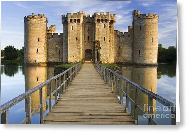 Bodiam Castle Greeting Card by Derek Croucher