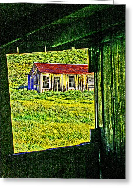 Bodie Ca From My Window Greeting Card