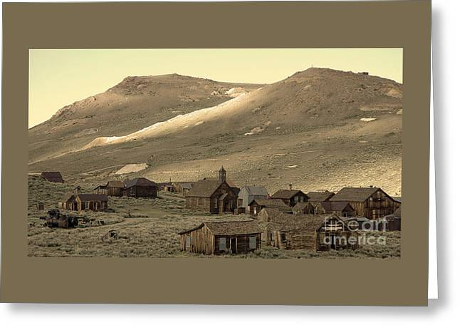 Greeting Card featuring the photograph Bodie California by Nick  Boren