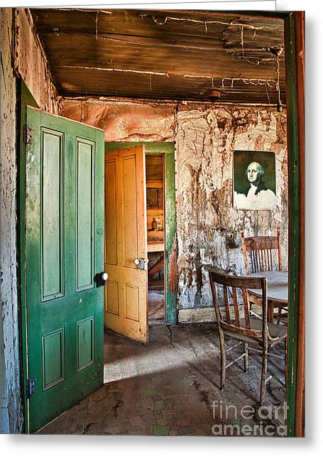 Bodie Doors Greeting Card by Alice Cahill