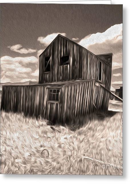 Bodie Ghost Town - Bent House 03 Greeting Card by Gregory Dyer