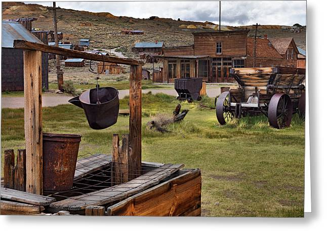 Bodie Ghost Town Greeting Card by Leland D Howard