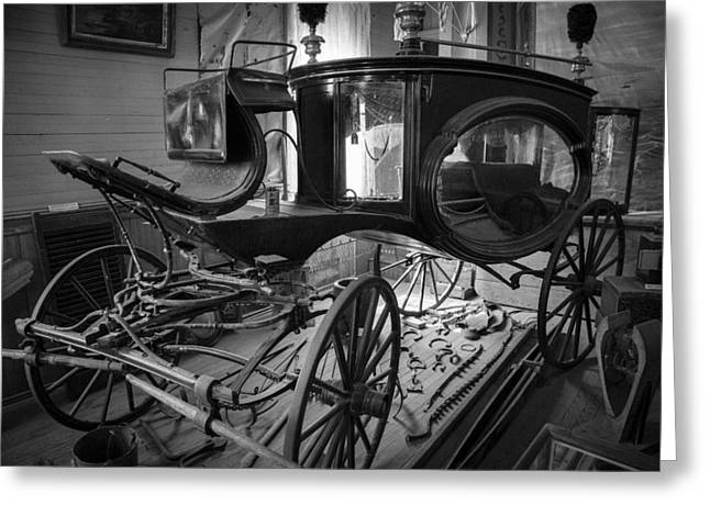 Bodie Hearse Greeting Card by Jim Snyder
