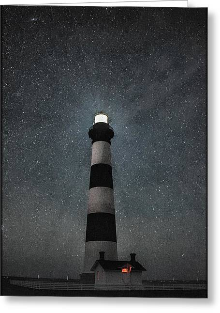 Bodie Island Light Midnight Greeting Card