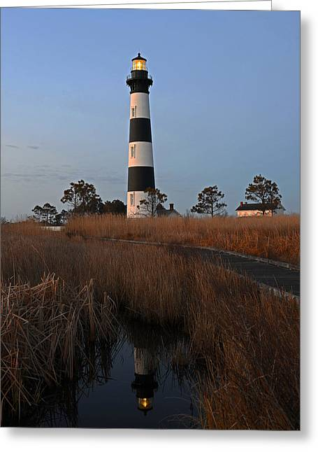 Bodie Island Light Reflection Greeting Card