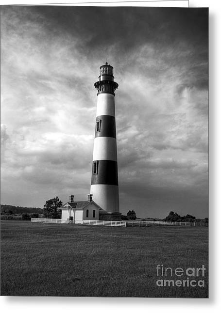 Bodie Island Lighthouse 2 Bw Greeting Card