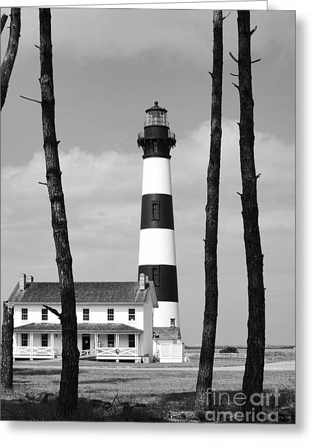 Bodie Island Lighthouse In The Outer Banks Greeting Card