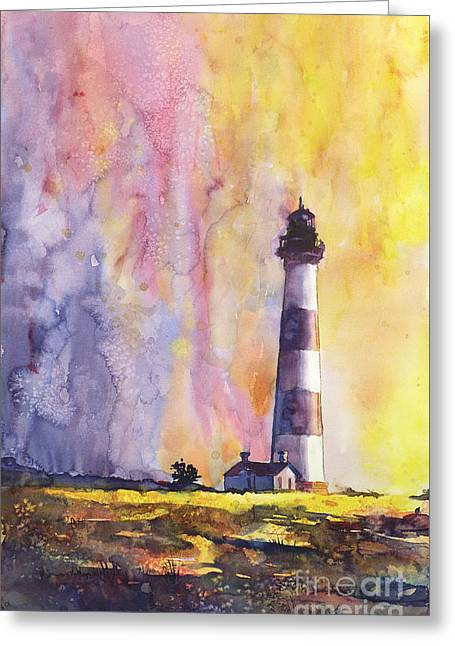 Bodie Island Lighthouse Greeting Card by Ryan Fox