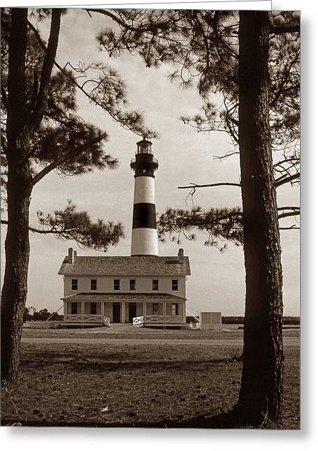 Bodie Island Lighthouse Greeting Card by Skip Willits