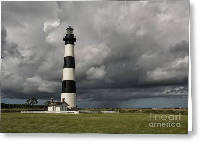 Bodie Island Lighthouse Stands Tall Greeting Card by Terry Rowe