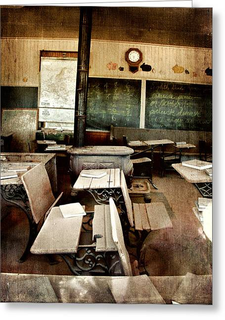 Greeting Card featuring the photograph Bodie School Room by Lana Trussell