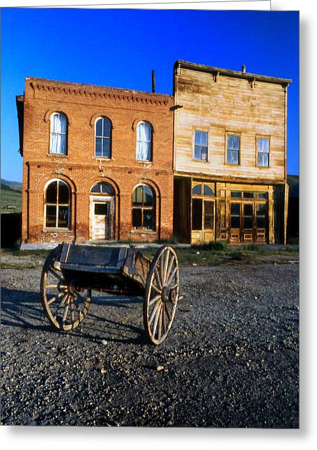 Bodie Storefront Greeting Card by Joe Darin