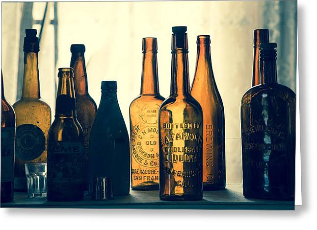 Bodies Bottles Greeting Card by Jim Snyder