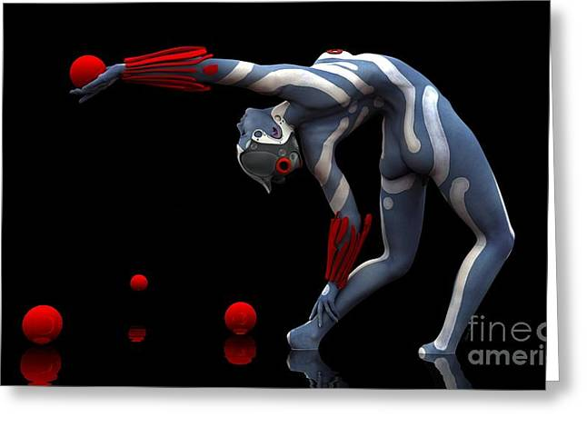 Body In Motion Greeting Card by Sandra Bauser Digital Art