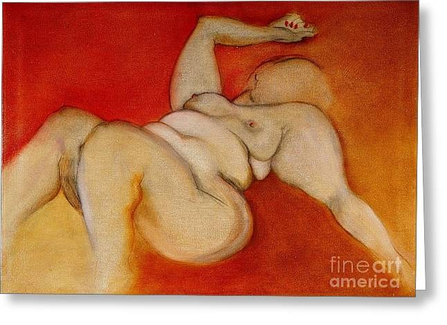 Body Of A Woman Greeting Card by Carolyn Weltman