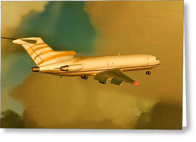 Boeing 727 - Cargo Greeting Card by Marcello Cicchini