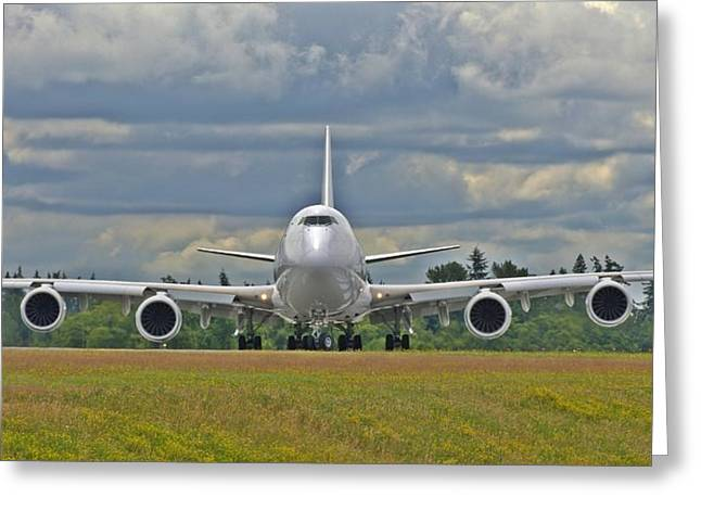 Boeing 747-800 Greeting Card