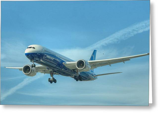 Boeing 787-9 Greeting Card by Jeff Cook
