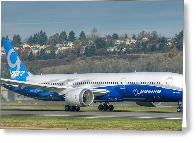 Boeing 787-9 Takeoff Greeting Card