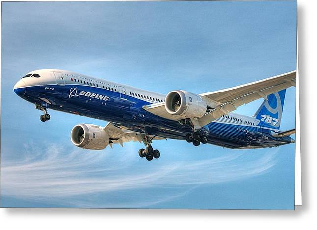 Boeing 787-9 Wispy Greeting Card