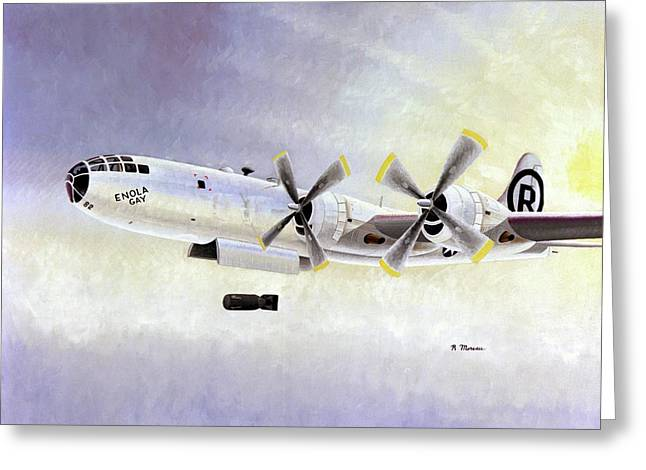 Boeing B-29 'enola Gay' Greeting Card by Us Air Force