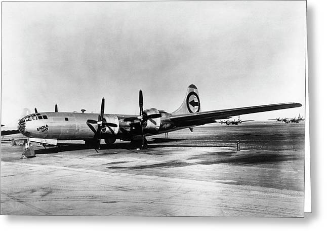 Boeing B-29 'enola Gay' Greeting Card