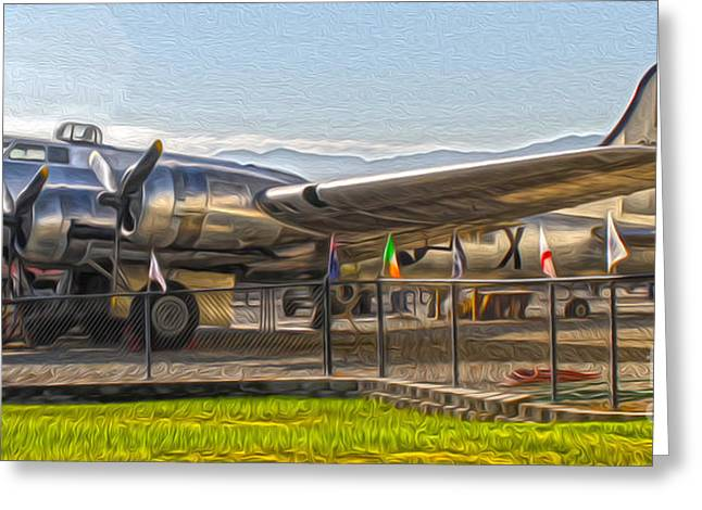 Boeing Flying Fortress B-17g  -  05 Greeting Card by Gregory Dyer