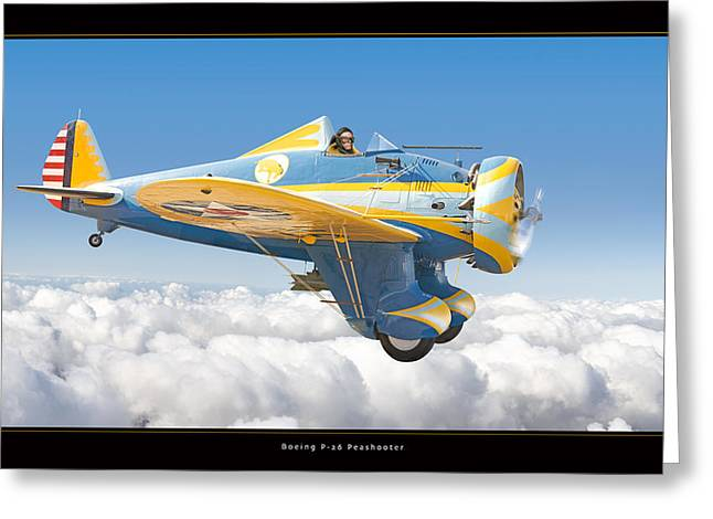 Boeing P-26 Peashooter Greeting Card by Larry McManus