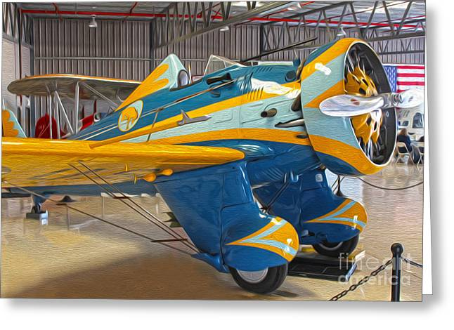 Boeing Peashooter P-26a  -  03 Greeting Card by Gregory Dyer