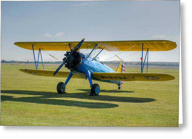 Boeing Stearman Hdr Greeting Card by Gary Eason