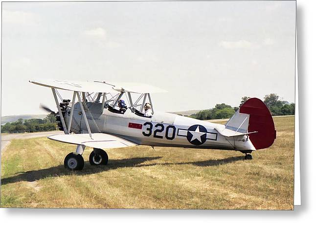 Greeting Card featuring the photograph Boeing Stearman by Paul Gulliver