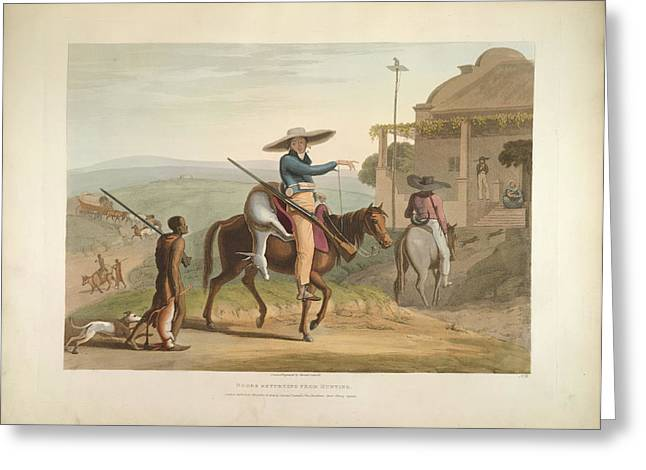 Boers Returning From Hunting Greeting Card by British Library