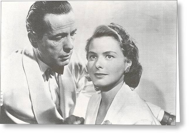 Bogart And Bergman Greeting Card