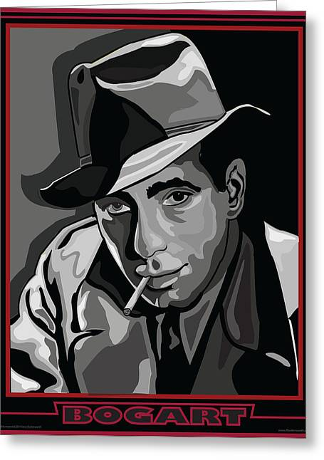 Bogart Greeting Card by Larry Butterworth