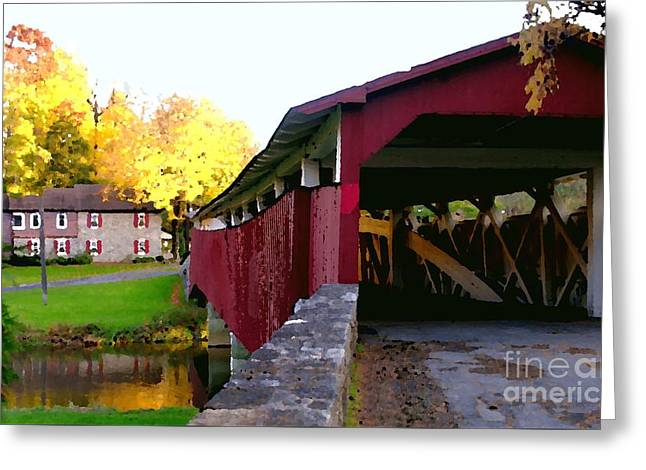 Bogerts Covered Bridge Allentown Pa Greeting Card