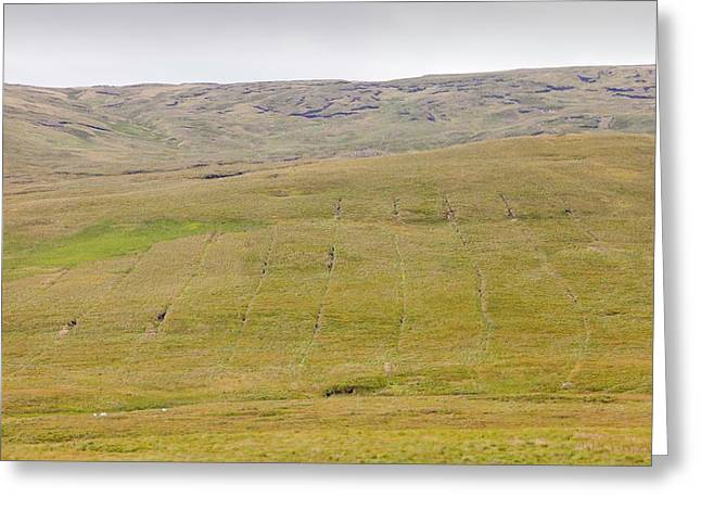 Boggy Moorland Above Wet Sleddale Greeting Card