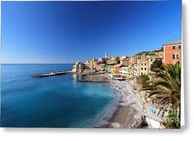 Bogliasco Village. Italy Greeting Card by Antonio Scarpi