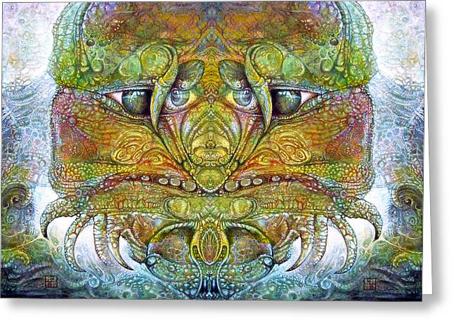 Greeting Card featuring the digital art Bogomil Variation 11 by Otto Rapp