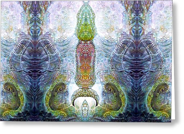 Greeting Card featuring the digital art Bogomil Variation 13 by Otto Rapp