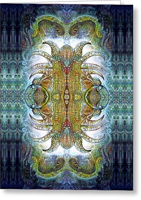 Greeting Card featuring the digital art Bogomil Variation 14 - Otto Rapp And Michael Wolik by Otto Rapp