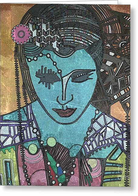 Bohee Woman Greeting Card by Amy Sorrell